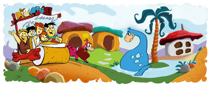 Thumb Google's Doodle in honor of The Flintstones 50th Anniversary