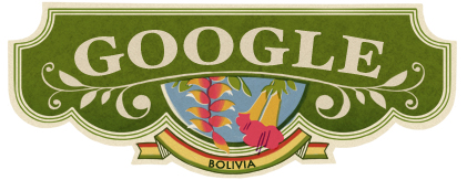 Google Logo: Bolivia Independence Day - 2011