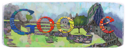 Google Logo: 100th anniversary of the scientific discovery of Machu Picchu by Hiram Bingham
